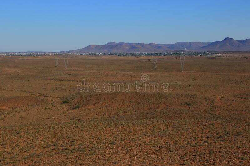 Great Karoo landscape South Africa. Landscape of the Great Karoo natural region in the Western Cape of South Africa royalty free stock photography