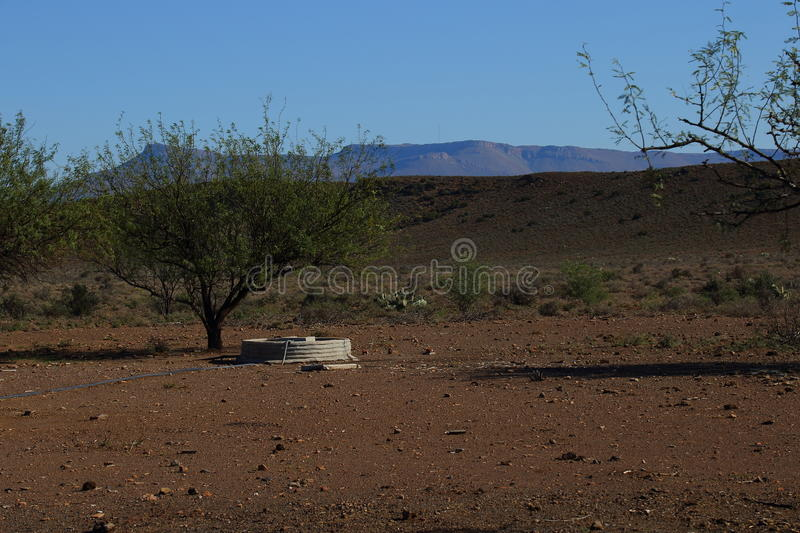 Great Karoo landscape South Africa. Landscape of the Great Karoo natural region in the Western Cape of South Africa royalty free stock image