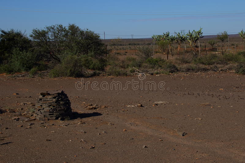 Great Karoo landscape South Africa. Landscape of the Great Karoo natural region in the Western Cape of South Africa stock image