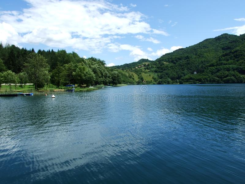 Great lake in the Bosnia. Great lake in the heart of Bosnia royalty free stock photo