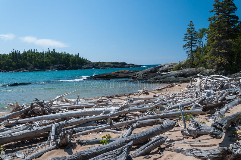 Great Lake Superior. Northern shore of Great Lake Superior. Pukaskwa National Park of Canada. Ontario, Canada stock photos