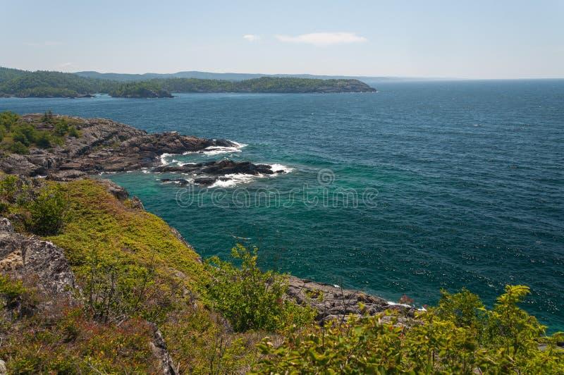Great Lake Superior. Northern shore of Great Lake Superior. Pukaskwa National Park of Canada. Ontario, Canada royalty free stock image