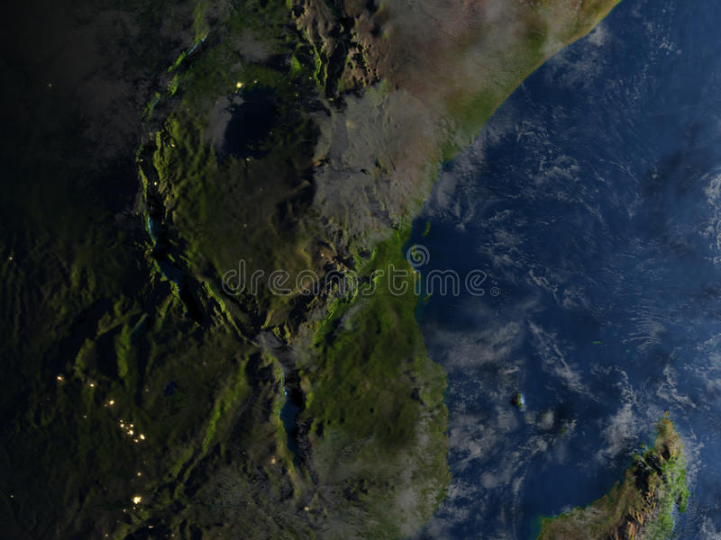 Download Great Lakes De L'Afrique La Nuit Sur Terre De Planète Illustration Stock - Illustration du foncé, illustration: 87700570