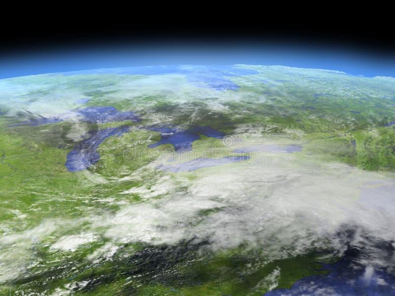 Great Lakes de l'espace illustration stock