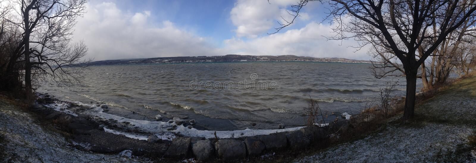 Lake Ontario - Rochester Shore. The Great Lakes French: les Grands-Lacs, also called the Laurentian Great Lakes[1] and the Great Lakes of North America, are a stock image