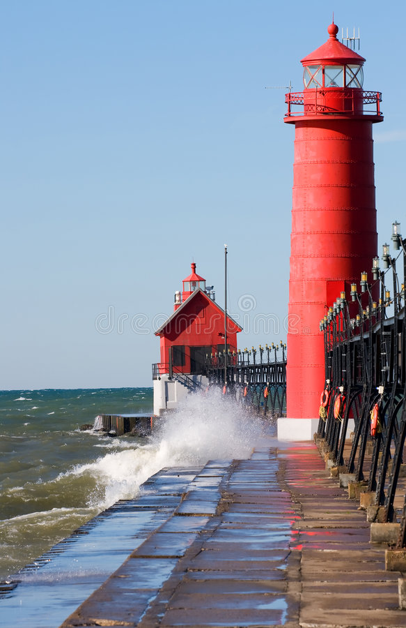 Download Great Lakes lighthouse stock photo. Image of coastal, motion - 3429560