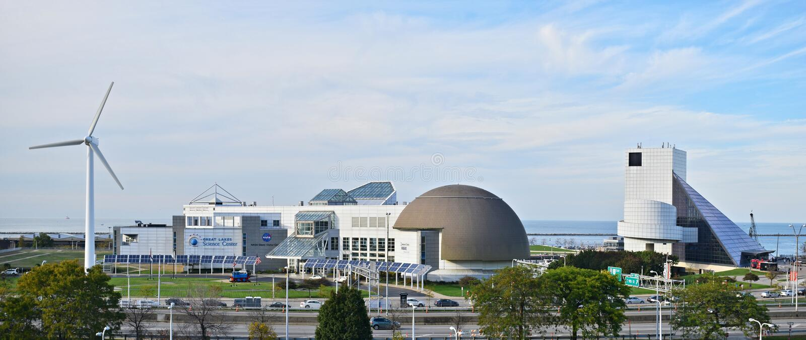 The Great Lakes Science Center in Cleveland, Ohio stock photography