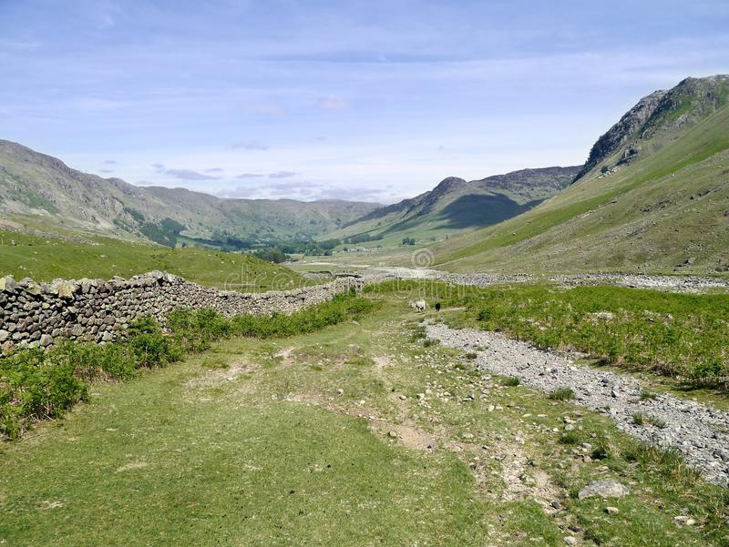 Great Langdale, Lake District. Great Langdale viewed from start of Oxendale valley stock photos