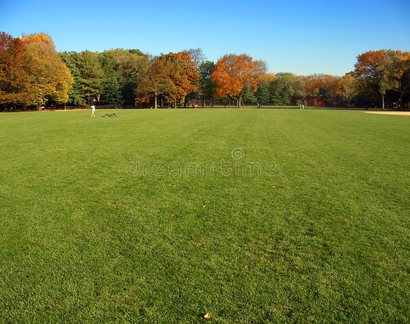 Great Lawn, Central Park, New York stock image