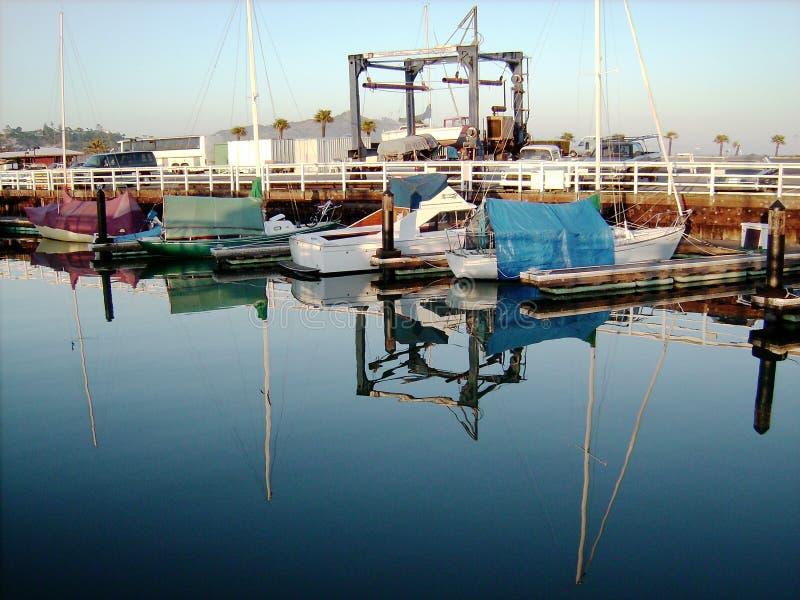 California- Sausalito Marina Reflections stock image