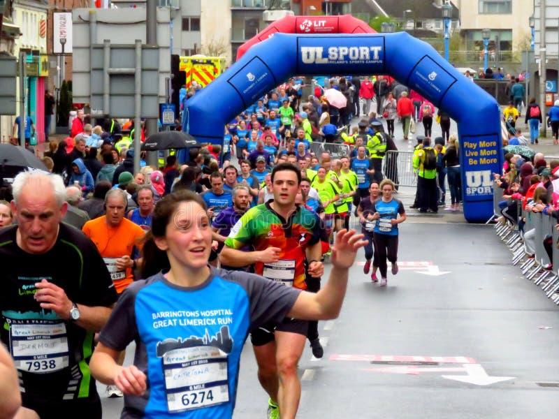 Great Limerick Run 2016. 6 mile run Marathon in Limerick 2016 Great Run/walk stock photography
