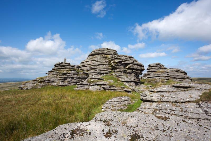 Great links tor. Dartmoor national park Devon Uk stock photos