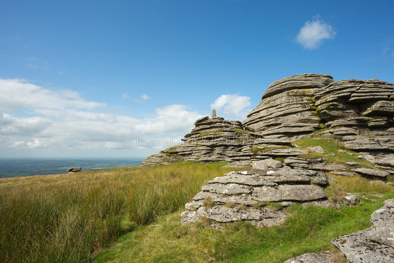 Great links tor. Dartmoor national park Devon Uk royalty free stock photo