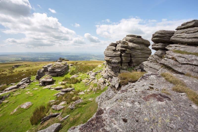 Great links tor. Dartmoor national park Devon Uk stock images