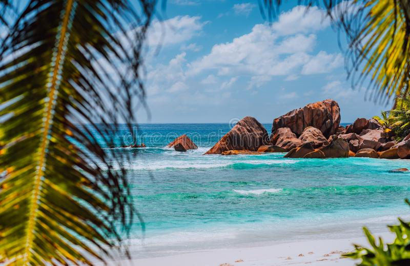 Great location for relaxing beach day on tropical island. Vacation holidays concept. Heavenly place paradise, dream stock photos