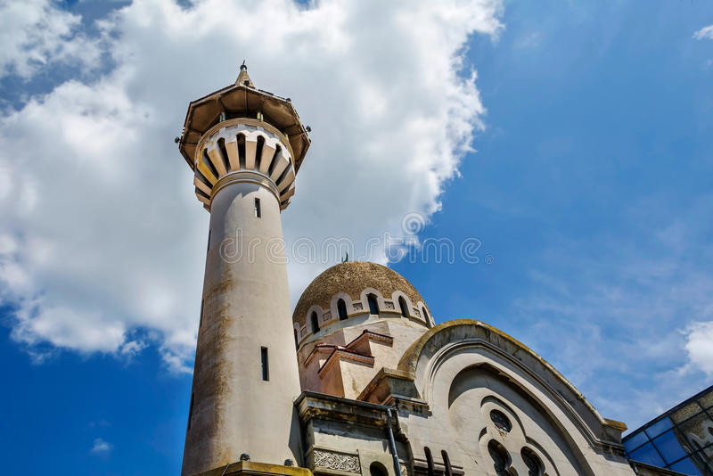The Great Mahmudiye Mosque, Constanta, Romania. The Great Mahmudiye Mosque (Moscheea Mare Mahmoud II) built in 1910 by King Carol I, famous architecture and stock photography
