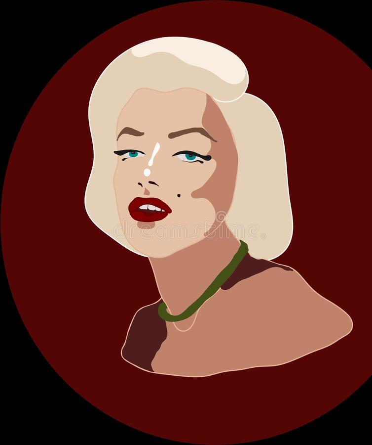 Great Marilyn Monroe was created by unusual technic royalty free illustration