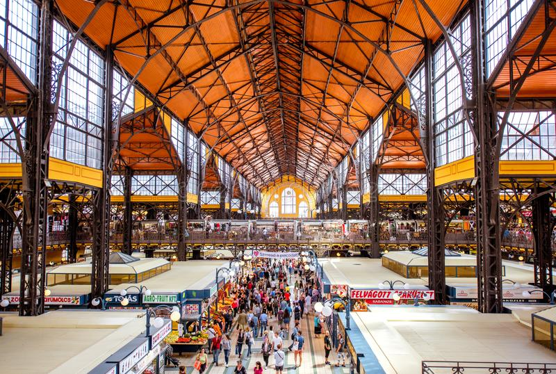 Great Market hall in Budapest royalty free stock photography