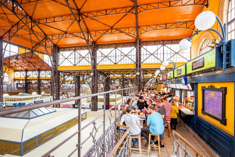 Great Market hall in Budapest stock image