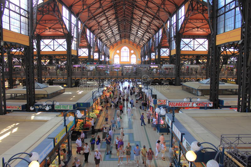 Great Market Hall in Budapest stock photos