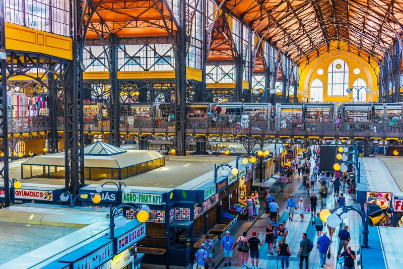 Great Market Hall or Central Market Hall in Budapest, Hungary stock image