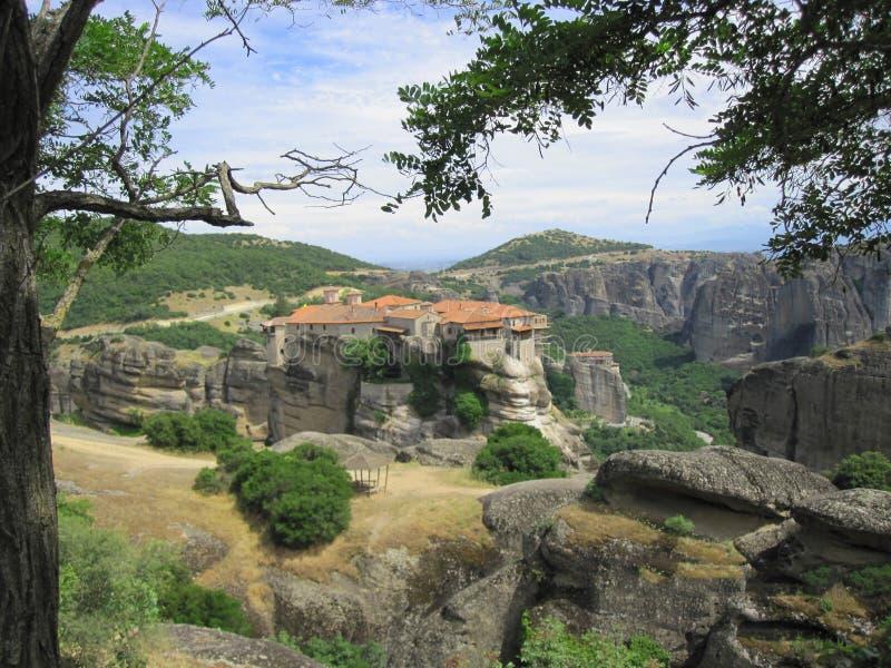 Great Meteor Monastery, Greece stock photos