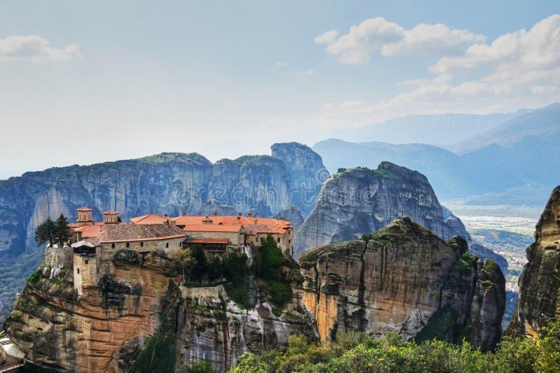 The Great Meteoron Monastery in Meteora, Greece royalty free stock photo