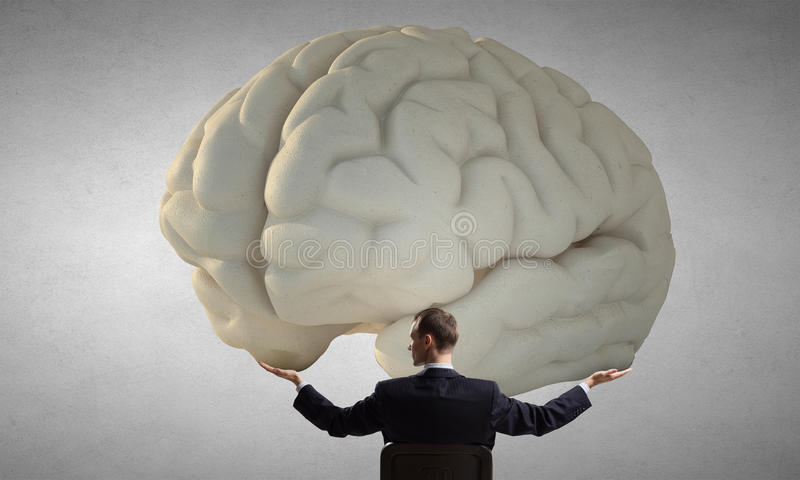Great mind concept royalty free stock images