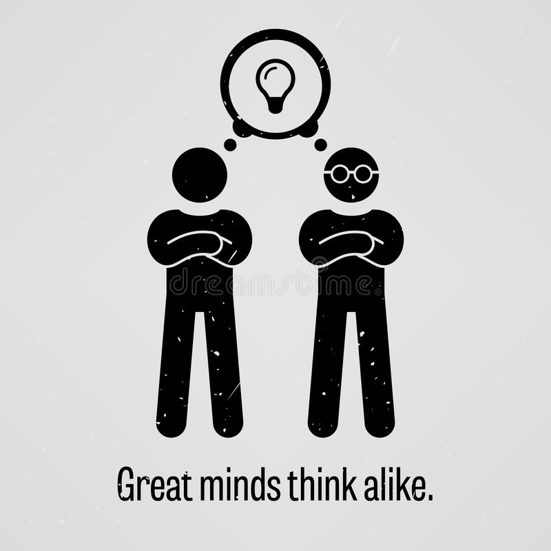 Free Great Minds Think Alike Royalty Free Stock Image - 50883576