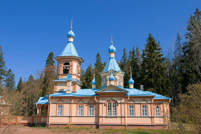 Great monasteries of Russia. Island Valaam stock image