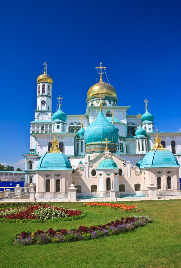 Great monasteries of Russia. New Jerusalem monastery, Istra stock image
