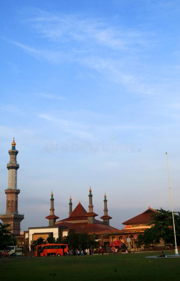 Great Mosque of Cirebon. Cirebon, Indonesia - December 26, 2017: The Great Mosque of Cirebon, West Java, officially known as Masjid Agung Sang Cipta Rasa. Was royalty free stock photos