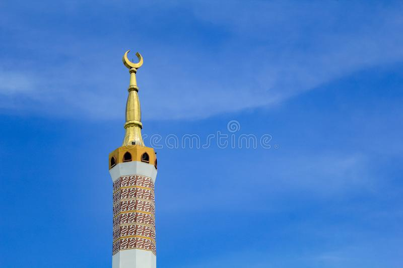 The Great Mosque of Indramayu West Java Indonesia. INDRAMAYU, INDONESIA- FEBRUARY 21, 2019: The Great Mosque of Indramayu West Java Indonesia royalty free stock images