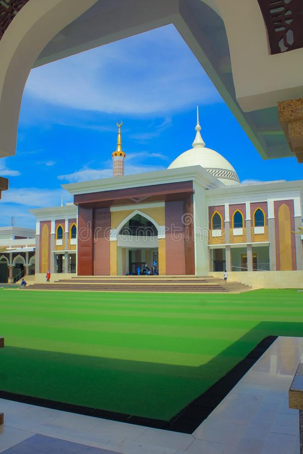 The Great Mosque of Indramayu West Java Indonesia. INDRAMAYU, INDONESIA- FEBRUARY 21, 2019: The Great Mosque of Indramayu West Java Indonesia stock image