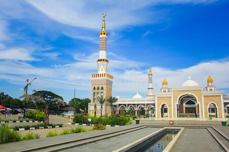 The Great Mosque of Indramayu West Java Indonesia stock images