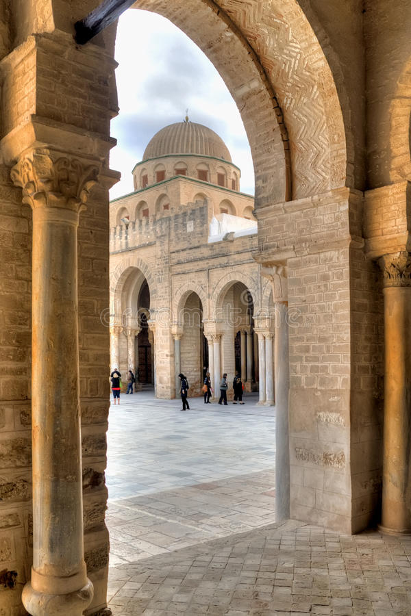 Great Mosque in Kairouan royalty free stock photos