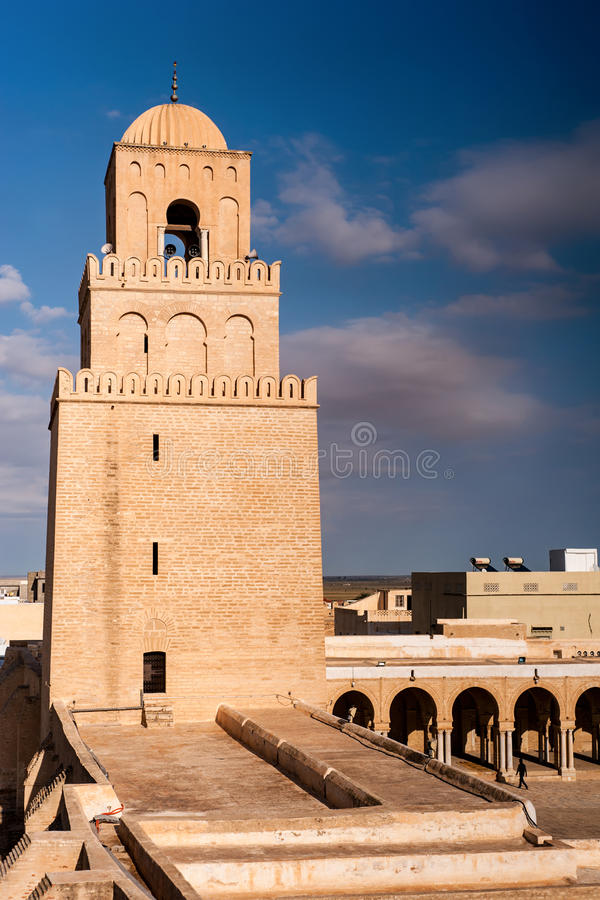 Download Great Mosque of Kairouan stock image. Image of tower - 38022823