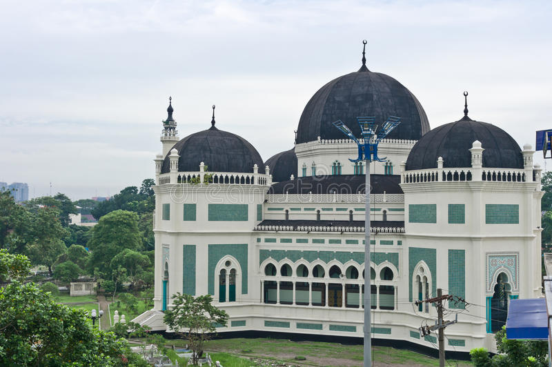 Download Great Mosque in Medan stock photo. Image of islam, island - 24337668