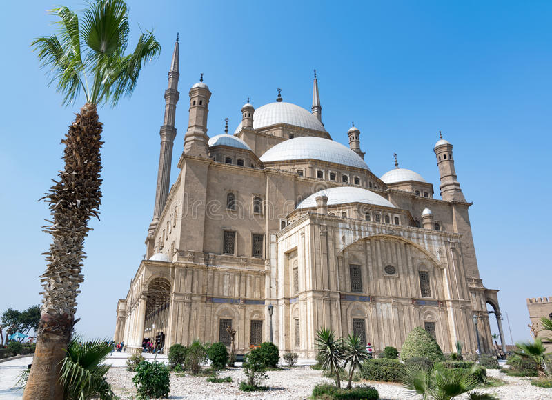 The great Mosque of Muhammad Ali Pasha Alabaster Mosque, situated in the Citadel of Cairo, Egypt royalty free stock photography