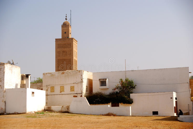 Great mosque, Sale, Morocco. The most important mosque in the old city of Sale, Morocco stock image