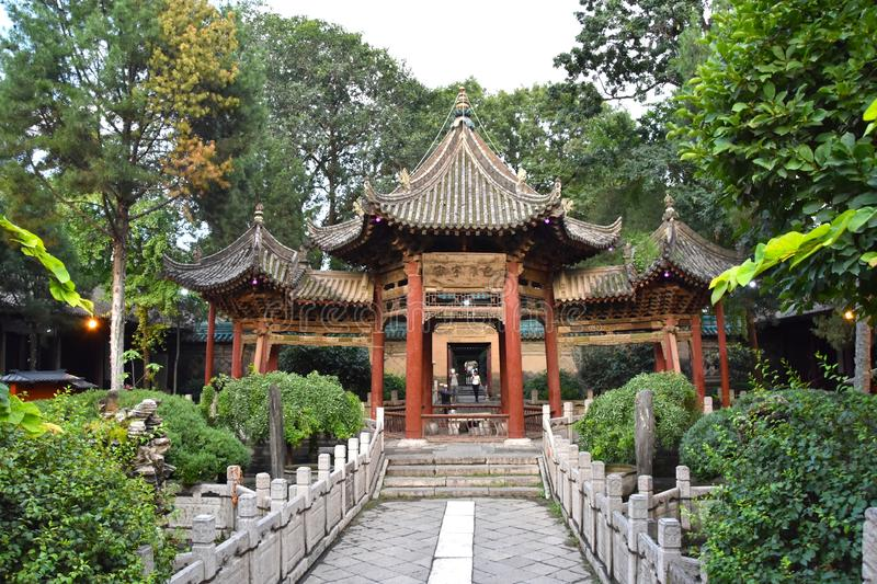 Great Mosque of Xian, China. Detail of the Great Mosque of Xian, China, Asia royalty free stock image
