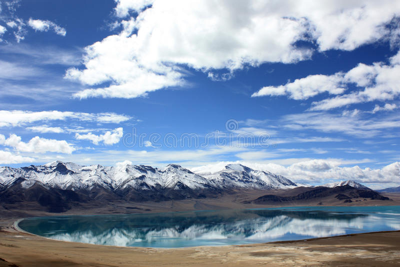 Great mountains and lake royalty free stock images