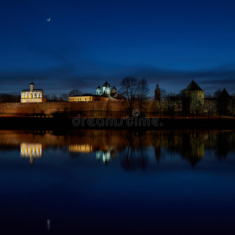 Download Great Novgorod. Night, The Fortress. River Volkhov Stock Photo - Image: 63123812