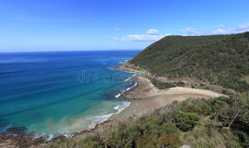 Great ocean road. View from a look-out royalty free stock photography
