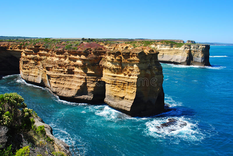 Great Ocean Road. A view along the Great Ocean Road, Victoria, Australia stock photo