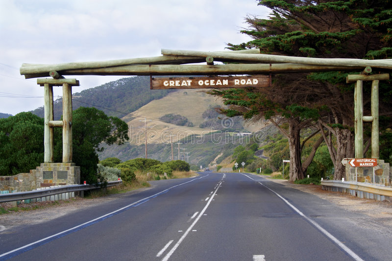 The great ocean road royalty free stock image