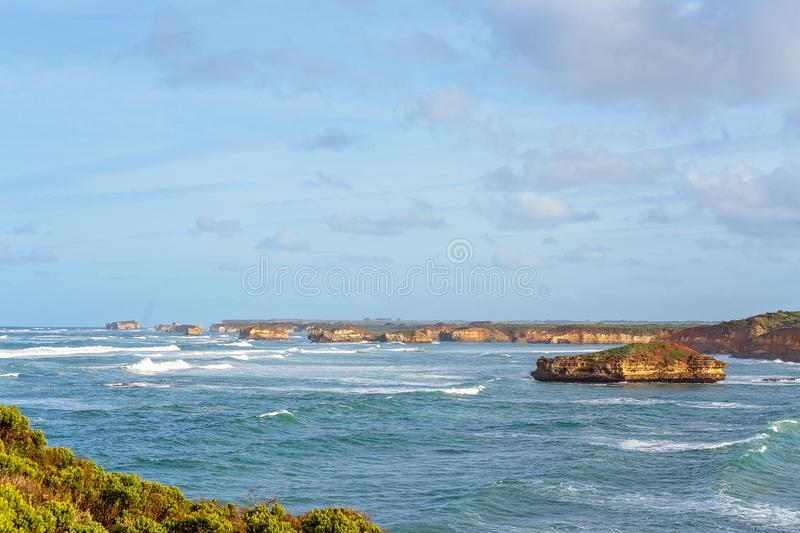 The Great Ocean Road Australia. Australia`s beautiful Victorian Great Ocean Road coastline, a well-known tourist destination royalty free stock image