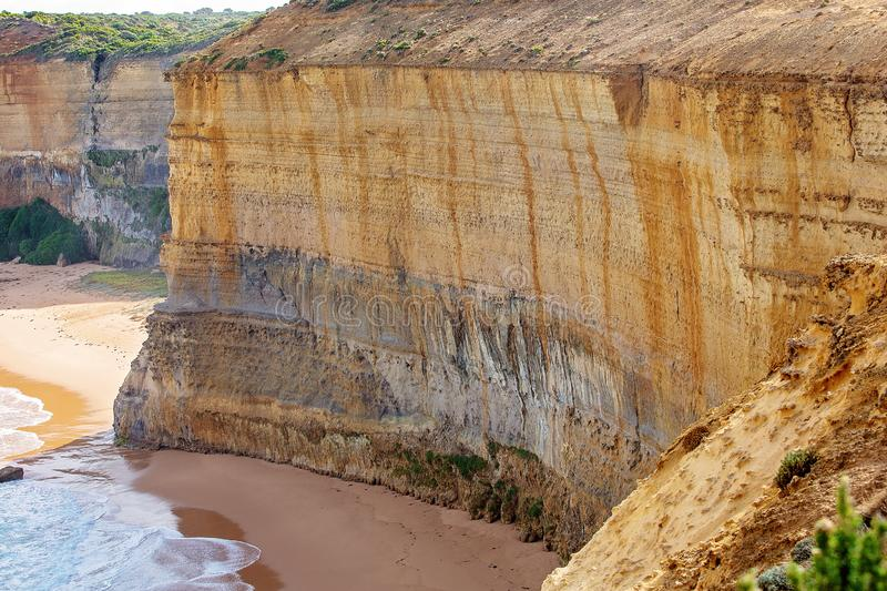 The Great Ocean Road Australia. Limestone rock formations on the Australian coastline - the well-know Great Ocean Road stock images