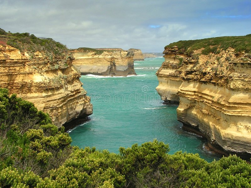 Great Ocean Road Cliffs. Cliffs at the Great Ocean Road stock photography