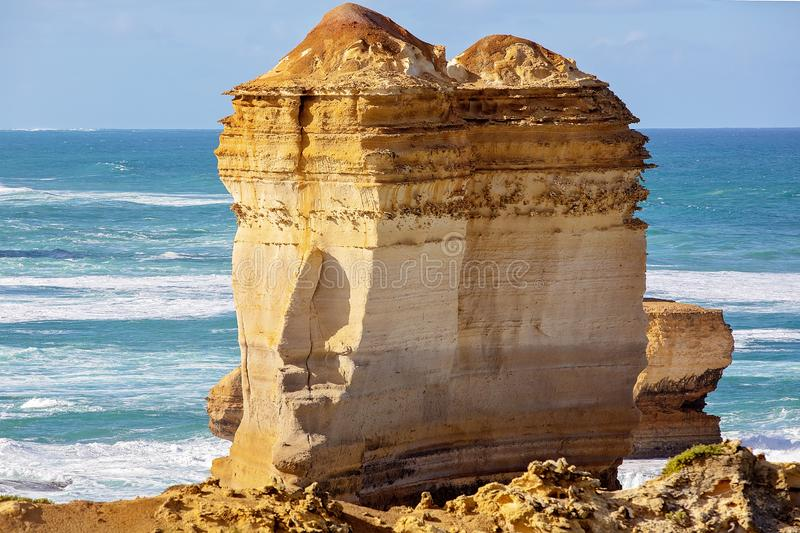 The Great Ocean Road Coastline In Victoria, Australia. Australia`s beautiful Victorian Great Ocean Road coastline, a well-known tourist destinationAustralia`s royalty free stock photography